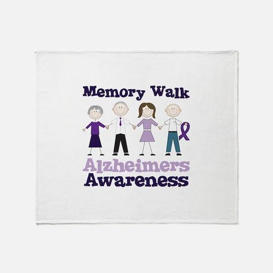 Memory Walk ALZHEIMERS AWARENESS Throw Blanket