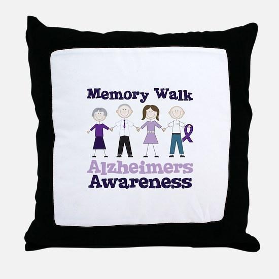 Memory Walk ALZHEIMERS AWARENESS Throw Pillow