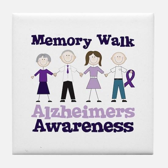 Memory Walk ALZHEIMERS AWARENESS Tile Coaster