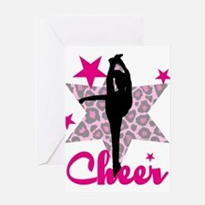 Pink Cheerleader Greeting Cards
