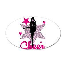Pink Cheerleader Wall Decal