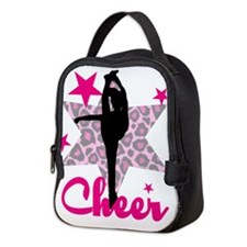 Pink Cheerleader Neoprene Lunch Bag