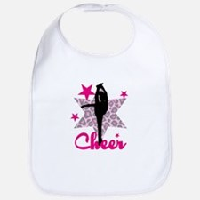 Pink Cheerleader Bib
