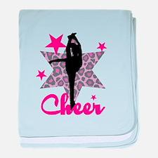 Pink Cheerleader baby blanket