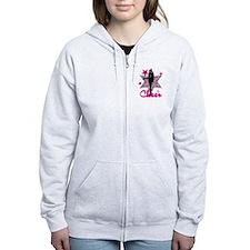 Pink Cheerleader Zip Hoodie