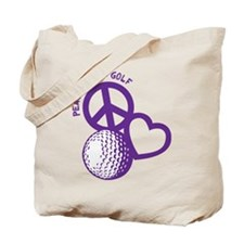 Peace, Love & Golf Tote Bag
