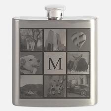 Monogrammed Photo Block Flask