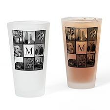 Monogrammed Photo Block Drinking Glass