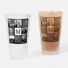 Monogrammed Photo Block Drinking Glass