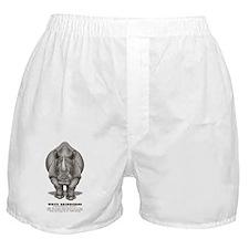 Funny White rhino Boxer Shorts