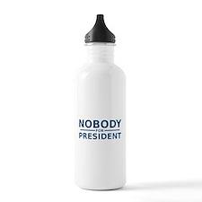 Nobody For President Water Bottle