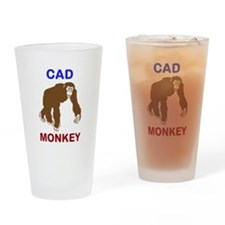 Funny Ape Drinking Glass