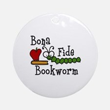 Bonafide Bookworm Ornament (Round)