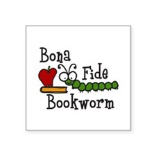 Bonafide Bookworm Sticker