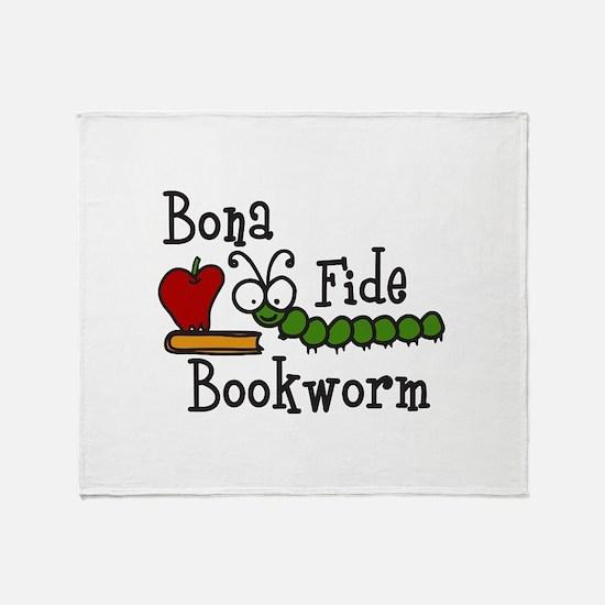 Bonafide Bookworm Throw Blanket
