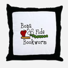 Bonafide Bookworm Throw Pillow
