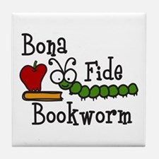 Bonafide Bookworm Tile Coaster