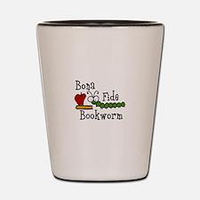Bonafide Bookworm Shot Glass