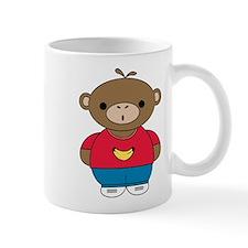 Cute Illustration of a Monkey on a Mug