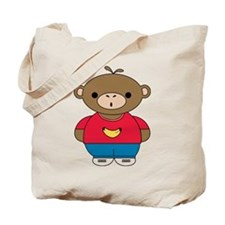 Cute Monkey Illustration on a Tote Bag