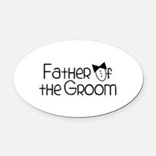 FatHeR Of tHe GRoom Oval Car Magnet