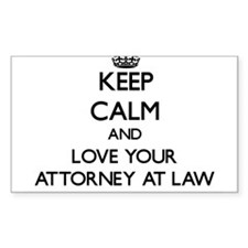 Keep Calm and Love your Attorney At Law Decal