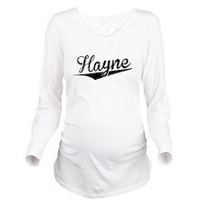 Hayne, Retro, Long Sleeve Maternity T-Shirt