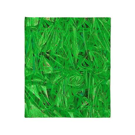 Green Grass Throw Blanket
