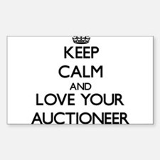 Keep Calm and Love your Auctioneer Decal