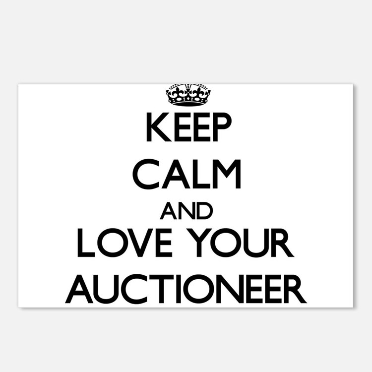 Keep Calm and Love your Auctioneer Postcards (Pack