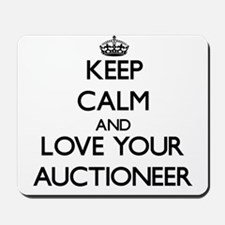 Keep Calm and Love your Auctioneer Mousepad