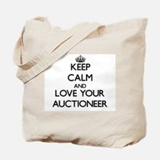 Keep Calm and Love your Auctioneer Tote Bag