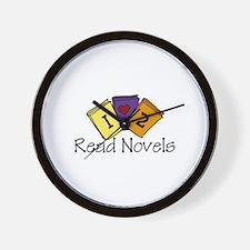 I Love to Read Novels Wall Clock