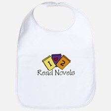 I Love to Read Novels Bib