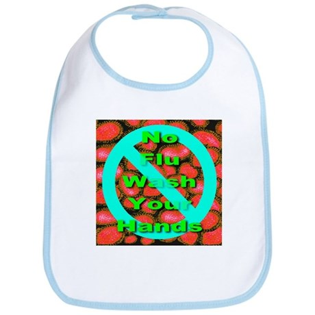 No Flu Wash Your Hands Bib
