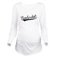 Hendershot, Retro, Long Sleeve Maternity T-Shirt