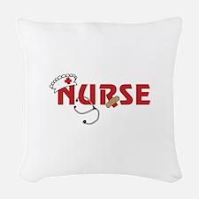Nurse Woven Throw Pillow