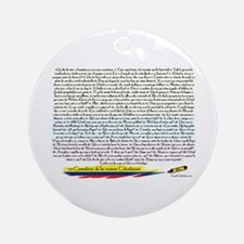 70 cantaletas madre Colombiana Ornament (Round)