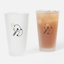 Audiology Drinking Glass