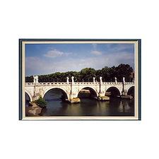 Roman bridge framed Rectangle Magnet