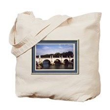 Roman bridge framed Tote Bag