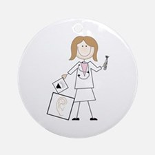 female audiologist Ornament (Round)