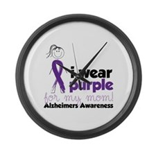 I Wear Purple For My Mom!Alzheimers Awarness Large