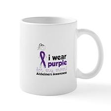 I Wear Purple For My Mom!Alzheimers Awarness Mugs