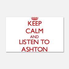 Keep Calm and Listen to Ashton Wall Decal