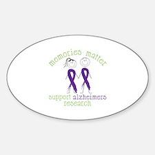 Memories Matter Support Alzheimers Research Sticke