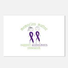 Memories Matter Support Alzheimers Research Postca