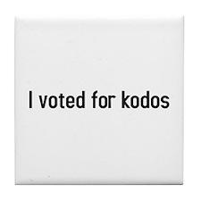 I voted for kodos Tile Coaster