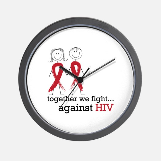 Together We Fight Against HIV Wall Clock