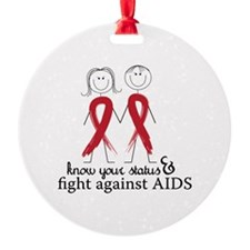 Know Your Status And Fight Against Aids Ornament